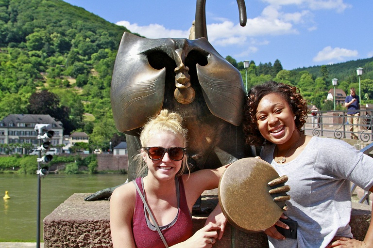 Two IUPUI students in Heilbronn Germany